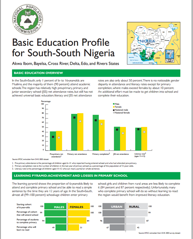 education profiles education policy data center